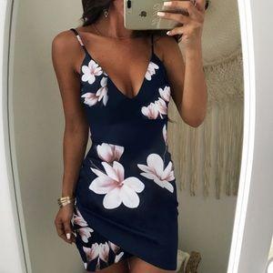 Boutique Navy Floral Dress